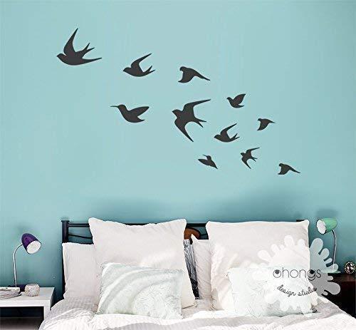Bird Wall Decal Flying Birds Wall Deal Birds Wall Sticker Interior Decal Living Room Wall Decal Wall Art Handmade