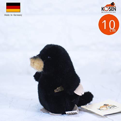 Kösener / Maulwurfbaby sitzend 10 cm schwarz 7350 Tier des Jahres 2020! Plüschtier Kuscheltier Stofftier Plüsch