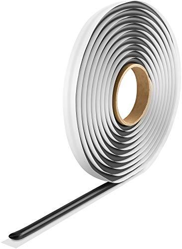 Poppstar Butylrundschnur Klebeband (5 m x 10 mm) Dichtband selbstklebend, rund, schwarz