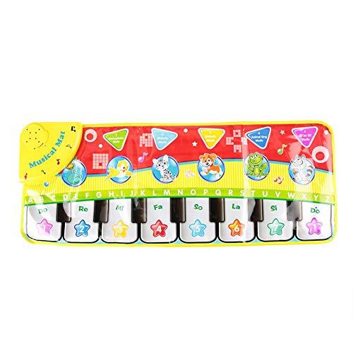 FTVOGUE Alfombra musical plana Mat Juega con teclado Tocar Manta para niños juguetes para aprender juguetes (70 x 27 cm)