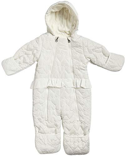 Jessica Simpson – Traje de Nieve con Capucha para bebé (recién Nacido/bebé), Ivory, 6-9 Meses