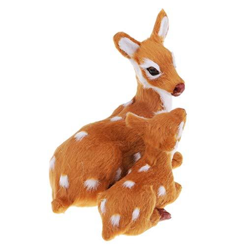 Kleine Hirsch Plüsch Figuren Plüschtiere Kuscheltier Stofftiere Spielzeug Weihnachtsdeko - B