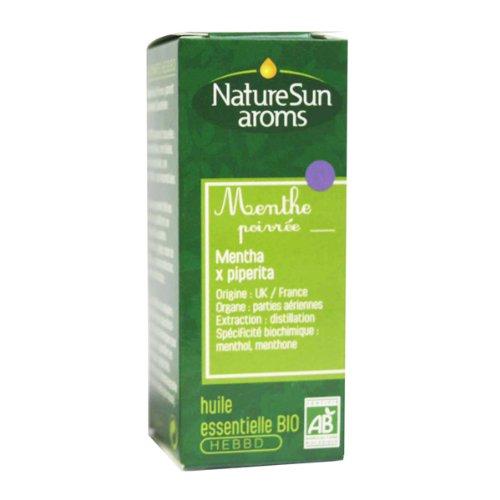 NatureSun Aroms Huile Essentielle Menthe Poivrée (Mentha x piperita) Bio 10 ml