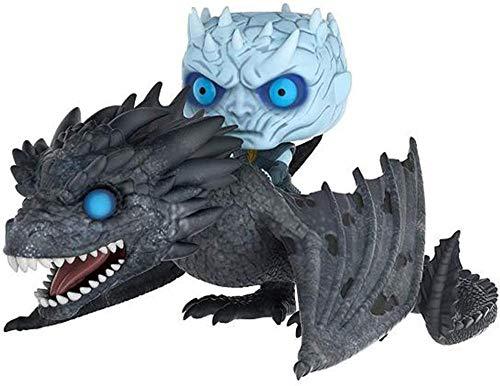A-Generic Pop! Juego de Tronos - Riding A Dragon Night King - Muñeca de Juguete Mano de Juguete Modelo de Oficina Adornos-UNA