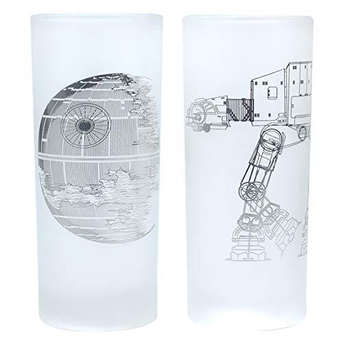 Half Moon Bay Star Wars Glasses (Juego de 2)-Death Star & AT-AT...
