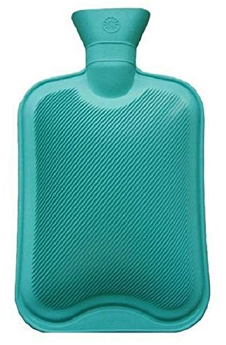 Fission Rubber Hot Water Bag/Bottle DK- 0023 Non-Electrical For Pain Relief (Assorted Color)- Pack of 1 (2 Litre)