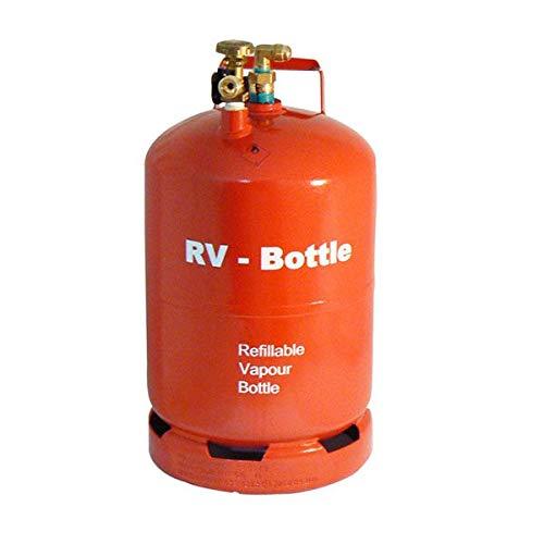 Toploo Rote Leicht Gewicht LPG Gas-Tankflasche Größe 6 kg (14,5 Liter) mit Fullknie