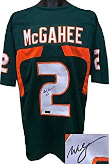 Willis McGahee Signed Jersey - Green Custom Stitched College Style Football XL - Autographed College Jerseys