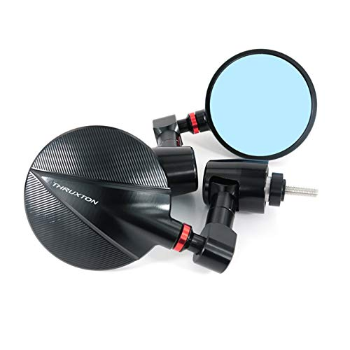 LTGABA Fit For Triumph Motorcycle Accessories Handle Bar Rearview Side Mirrors Bar End Mirror (Color : RED)