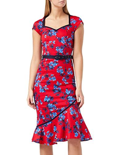 Joe Browns Damska sukienka w kwiaty The Bop, Czerwony (czerwony B), 32 PL