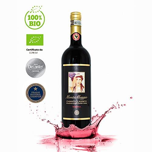 Chianti Classico Riserva di Montemaggio - Vino Rosso Toscano Biologico DOCG Gallo Nero - Fattoria di Montemaggio - Annata 2012 – 0.750 L - 1 bottiglia
