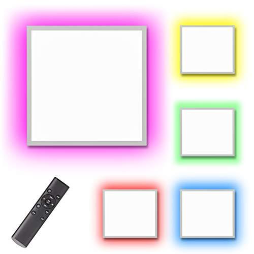 Northpoint LED Panel mit RGB Backlight Hintergrundbeleuchtung 15W Warmweiß/Kaltweiß Mood RGB Fernbedienung 45x45 cm Ambiente