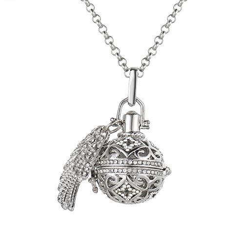 Preisvergleich Produktbild Aromatherapie-Anhänger Blumenflügel Mit Diamant Aromatherapie Parfüm Ätherisches Öl Diffusor Qin Yinzhu Halskette -B