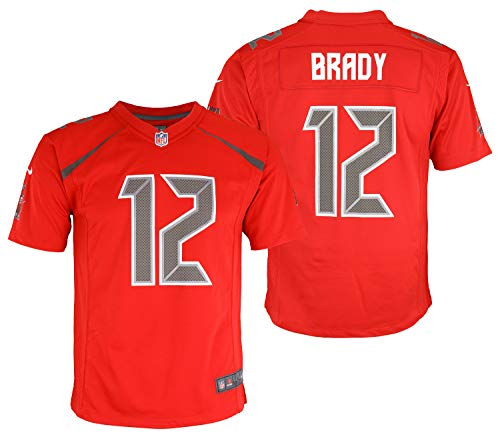 Nike NFL Tampa Bay Buccaneers Tom Brady #12 Game Jersey Youth Boys 8-20, Red (Medium 10-12)