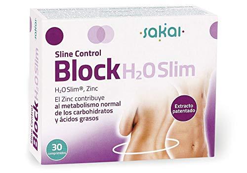 Sakai – Block H2O Slim, 30 comprimidos. Bloquea tus excesos. H2OSlim®y Zinc. Bloquea las Grasas y controla los Carbohidratos. Actúa desde la primera toma