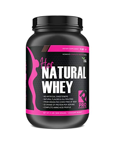 Her Natural Whey Protein Powder for Women - Supports Weight Loss & Lean Muscle Mass - Low Carb - Gluten Free - Grass Fed & rBGH Hormone Free (Chocolate Delight, 2 lb)