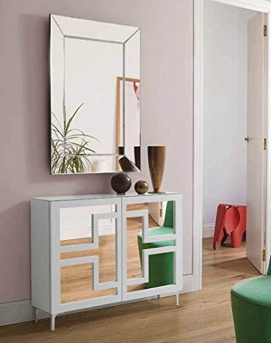 DISARTE - Mueble Auxiliar - Taquillones/Zapateros Modernos - Quare Blanco (115x27x85)
