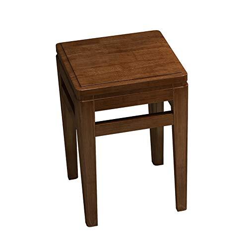 Kruk HAIYU- Retro Rubber Hout Ronde Woonkamer Stapelbare Eettafel met Dikke Stoel Thuis Houten Laag, Volledig gemonteerd, Lager 200 KG