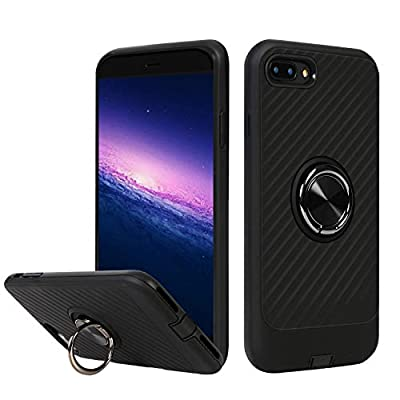 BECIKOO Case for iPhone 8 Plus Case with Ring H...