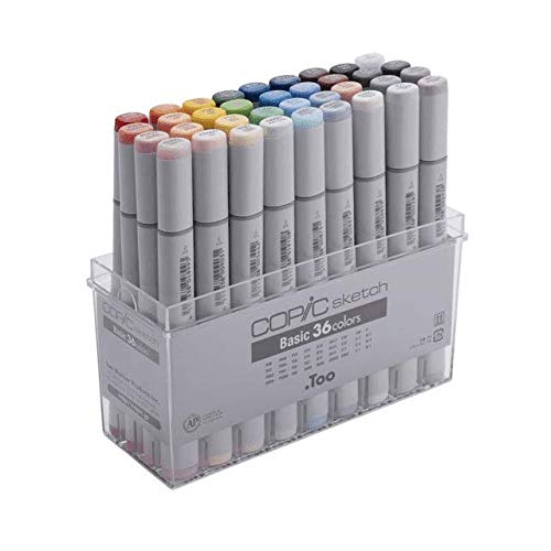 .Too Copic Sketch Marker 36 Piece Sketch Basic Set