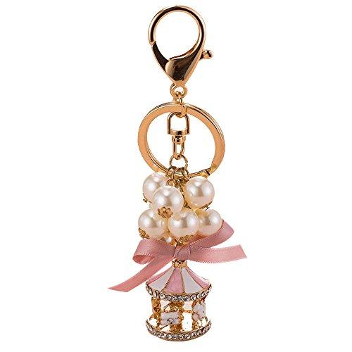 Gaddrt - Llavero de aleación con diseño de perlas