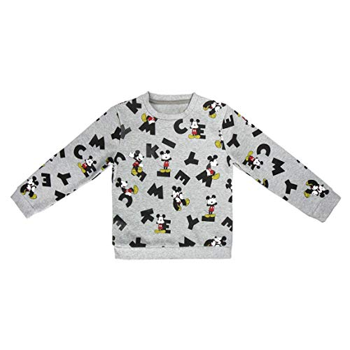 Mickey Mouse S0712673 Sweater, Gris, 5-6 años (111-116 cm) Unisex-Child