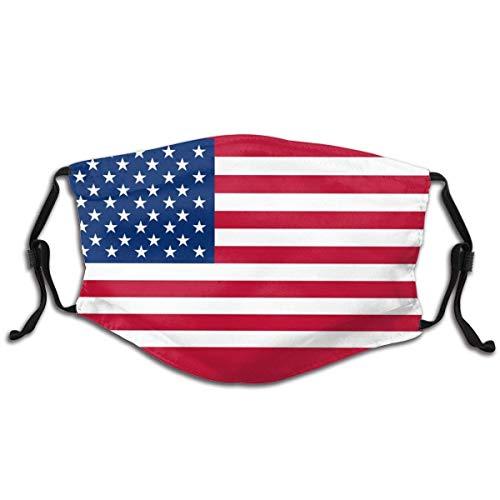 Farbige Flagge der USA Mundschutz Mundabdeckungen