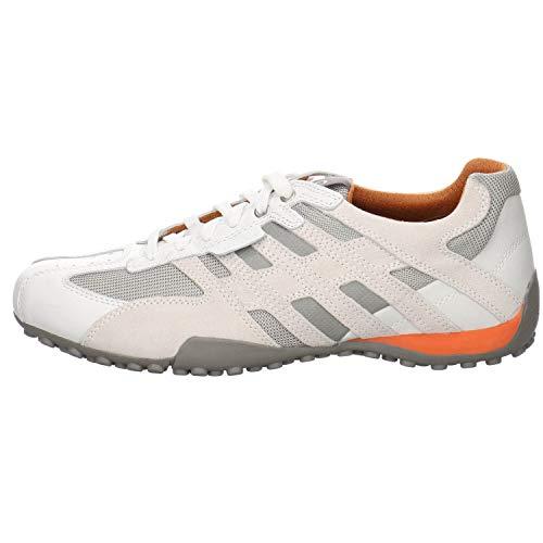 Geox Herren Uomo Snake K Sneaker, Weiß (Optic White), 43 EU