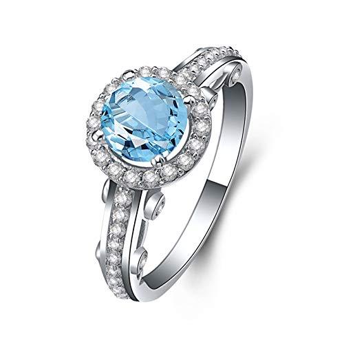 Anwaz Mujer    plata de ley 925 redondo   azul