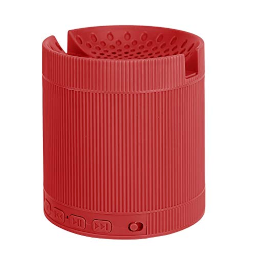 DKee. 3D-Stereo-Musik-Rot Mini tragbaren drahtlosen Telefon-Lautsprecher-Soundsystem Bluetooth-Lautsprecher mit Surround-Sound-Lautsprecherständer