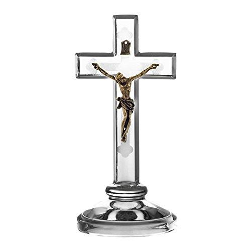Crystaljulia Kreuz, Kristall, 16cm, 7,5 x 7,5 x 16 cm