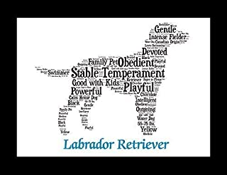 Labrador Retriever Dog Wall Art Print - Personalized Pet Name - Gift for Her or Him - 11x14 matted - Ships 1 Day