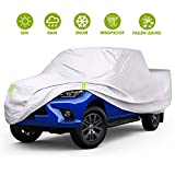 Auto-aAtend 4 Layers Truck Cover Universal Full Pickup Truck Covers Waterproof All Weather Outdoor UV Protection Windproof Dustproof Scratch Resistant Snowproof Pickup Cover (Length Up to 246'')