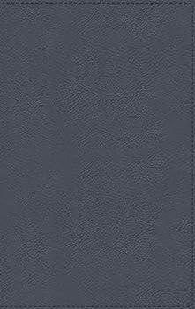 NBLA Biblia de Estudio MacArthur Piel Genuina Azul Pizarra Interior a dos colores  Spanish Edition