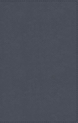 NBLA Biblia de Estudio MacArthur, Piel Genuina, Azul Pizarra, Interior a dos colores