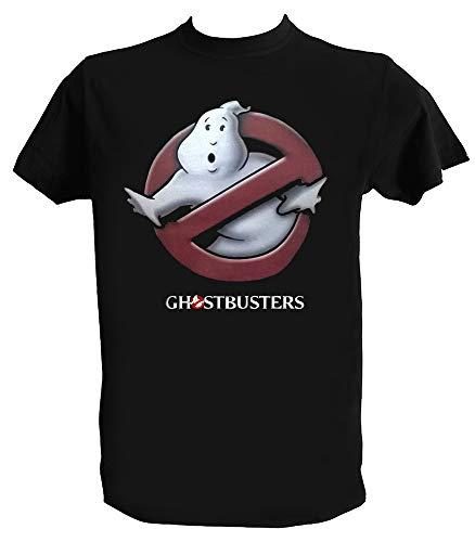 Desconocido Camiseta Ghostbusters Hombre Niño Negra Cazafantasmas Peliculas Clasicas Años 80, Hombre - L