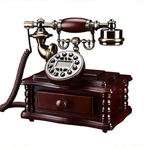 CZWYF Alto Grado de Madera sólida Teléfono Antiguo Teléfono de teléfono Retro...