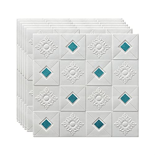 WYDMBH Paneles de Pared de PVC 10 unids Pegatinas de Pared Papel Pintado Autoadhesivo 3D estéreo Paneles Decorativos Techo Espuma Papel Tapiz Sala de Estar decoración de la casa