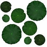 Hojas de loto flotantes de espuma artificial de IFAMIO para decoración de estanque, acuario y escenario, plantas verdes realistas de follaje de loto para decoración de piscinas de peces, paquete de...