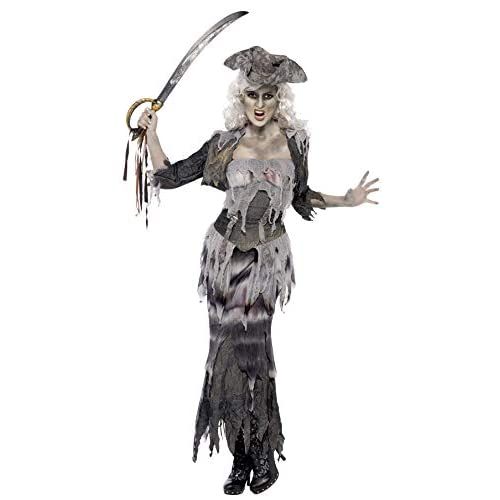 Smiffys Costume Ghoulina Nave dei Fantasmi, comprende Top, Gonna, Giacca e Cappello