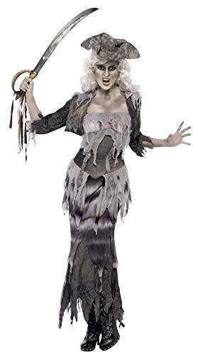 Smiffys Costume goule féminin bateau fantôme, avec haut, jupe, veste & chapeau