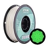 eSUN Filamento PLA 1.75mm, Verde Brilla en la Oscuridad, PLA Filamento para Impresora 3D, Precisión Dimensional +/- 0.05mm, 1KG (2.2 LBS) Carrete Filamento de Impresión 3D, Verde Luminoso