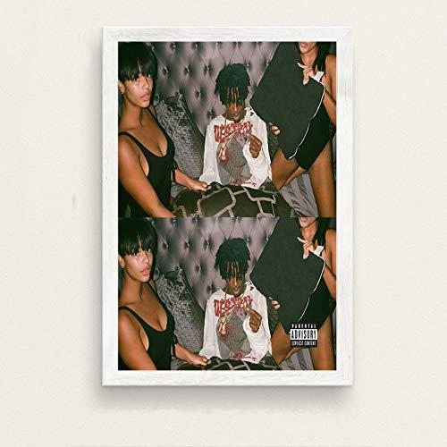 LING YUN Co,Ltd Leinwanddrucke,Rapper Playboi Carti Poster Wandschmuck,Wandkunst Bilder, Druck Bilder Für Schlafzimmer Wohnzimmer,Kunstdrucke Deko,50X70Cm Ohne Rahmen Bild,-A502