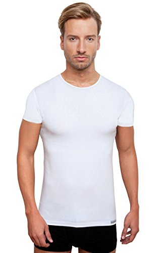 Schaufenberger Casual Kurzarm-Unterhemd Weiß O-Neck, Größe S
