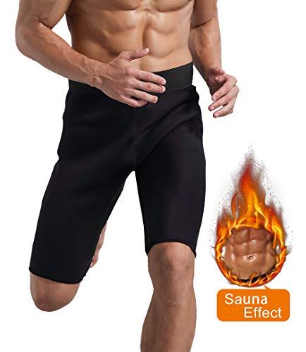 Novasoo Pantalones Cortos de Sauna de Entrenamiento para Hombres, Pantalones de Neopreno para Ejercicio con pérdida de Peso Respirable (2XL)