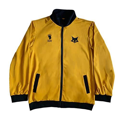 Anime Haikyuu abrigo Cosplay disfraces negro Lobo MSBY equipo uniforme chaqueta