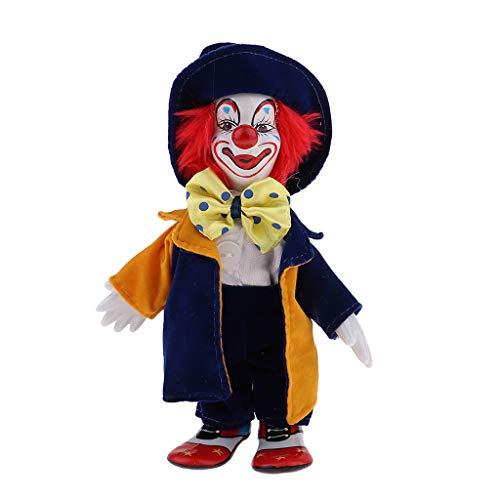 Minipuppe Clown Figur Porzellan Puppe Für Kinder Geburtstagsgeschenke Halloween Chirstmas Dekoration - # 1