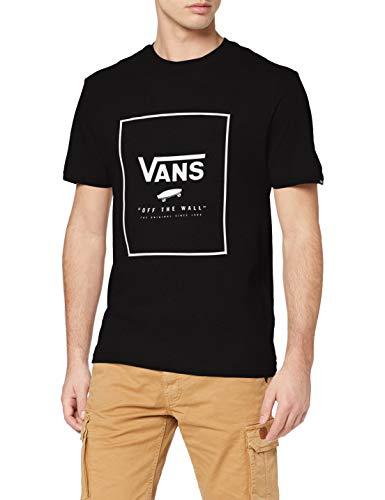 Vans Print Box Camiseta, Black/White, L para Hombre