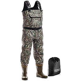 Foxelli Waders de pêche en néoprène – Cuissardes pour homme avec bottes – Utilisation pour la chasse au canard, la pêche…