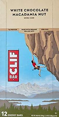 Clif Bar - Organic Energy Bars Box White Chocolate Macadamia Nut